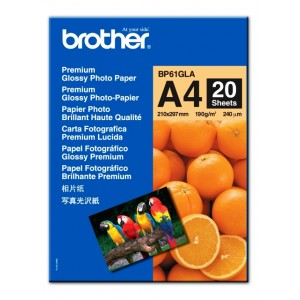 Papier Brother A4 Glossy 190 g/m2, 20 ks